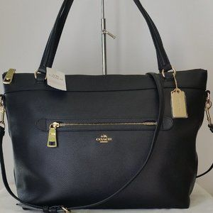 Coach Tyler Leather Tote - Black
